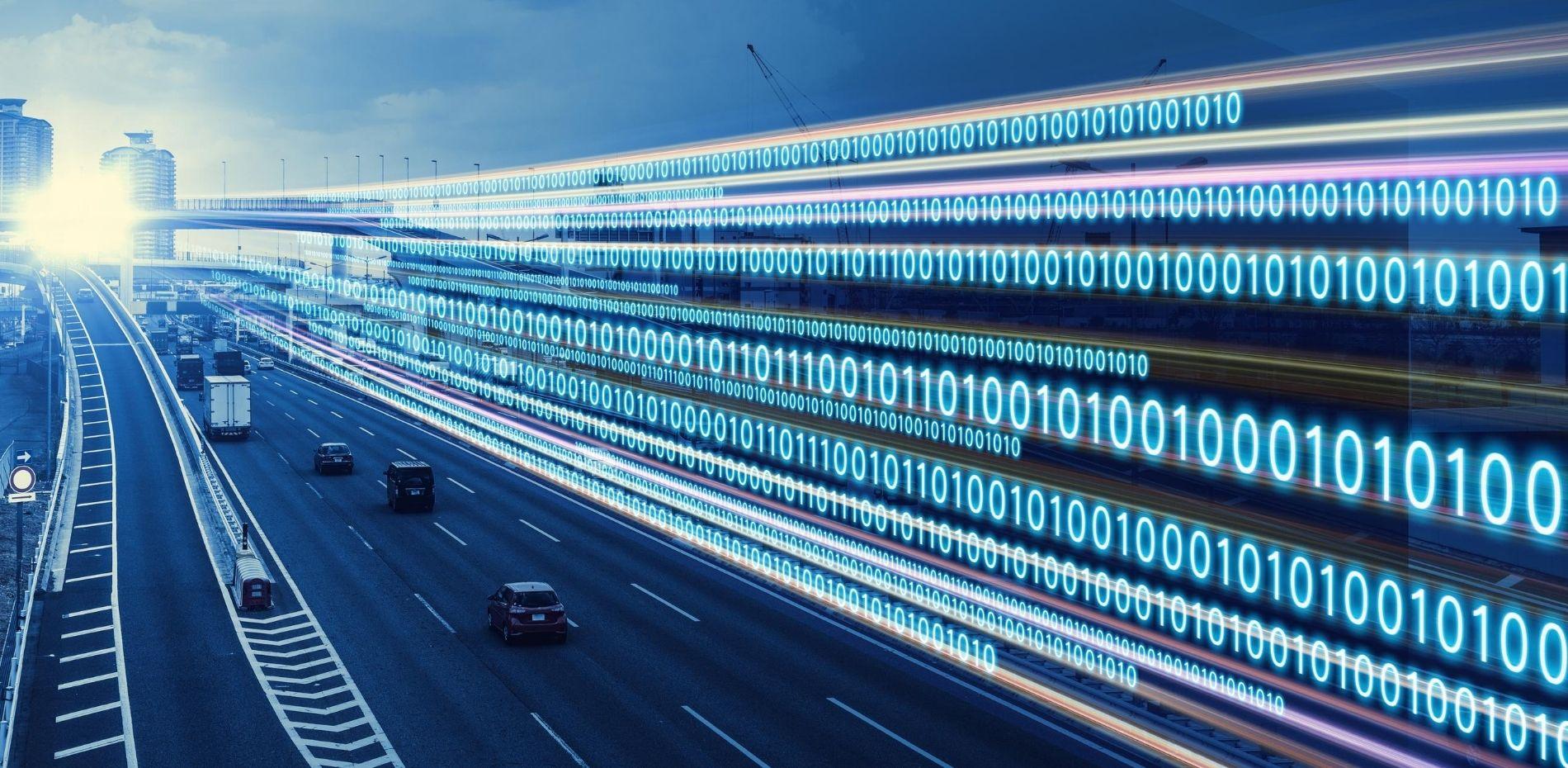 Digital transformation with binary code