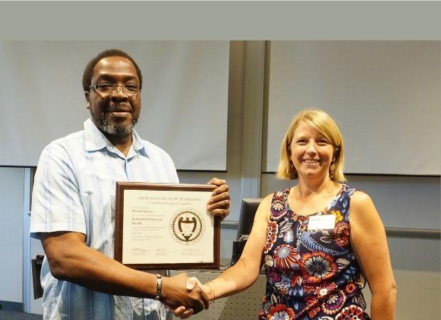 OSHA safety certificate recipient